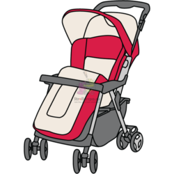 Прогулочная коляска (механизм книжка)