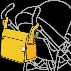 Сумка для мамы на коляску из ткани