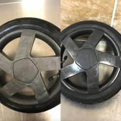Удаление царапин с колесных дисков + покрытие лаком