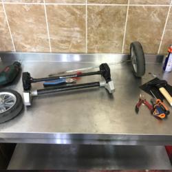 Ремонт ножного тормоза шасси