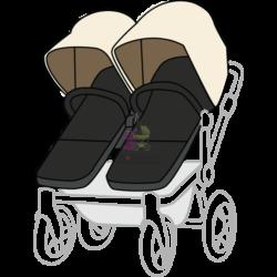 Чистка коляски для двойни